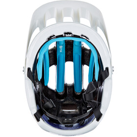 POC Tectal Race Spin NFC Helm, hydrogen white/fluorescent orange avip